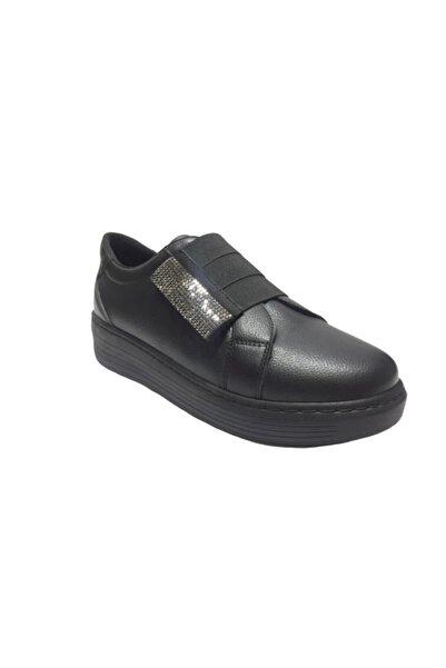 Pandora Kadın Siyah Taşlı Spor Casual  Ayakkabı 398