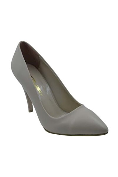 PUNTO 462001 Kadın Topuklu Stiletto Ayakkabı- Ten - 39