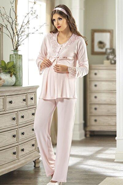 Xses Kadın Pembe Lohusa Pijama Takım 2210
