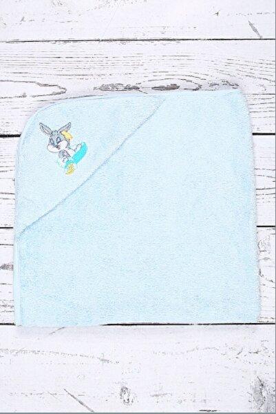 Özdilek Mavi Bugs Bunny Nakışlı Bambu Bebek Pelerini