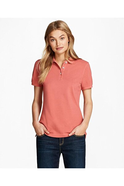 BROOKS BROTHERS Kadın Pembe Polo Yaka T-shirt