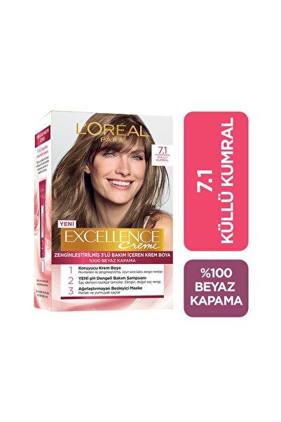 Saç Boyası - Excellence Creme 7.1 Küllü Kumral 8690595357164