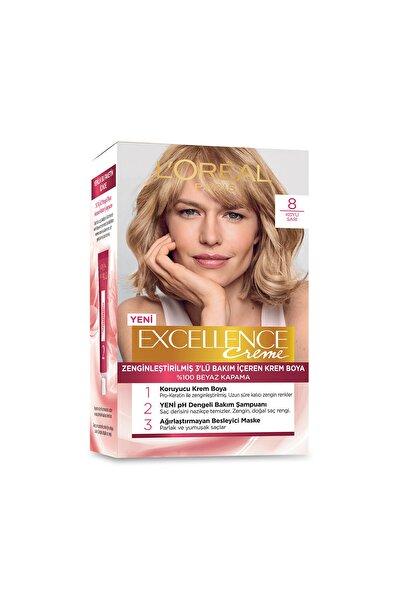 Saç Boyası - Excellence Creme 8 Koyu Sarı 8690595357171