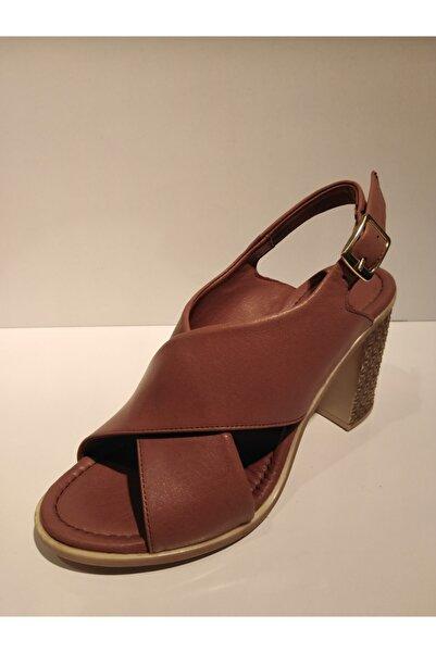 Pandora Kadın Kahverengi Günlük Deri Sandalet Y20 Th111