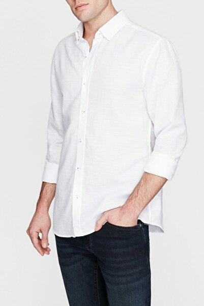Erkek Cepsiz Beyaz Gömlek