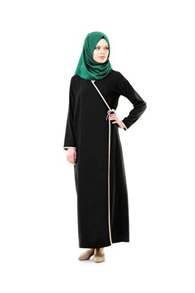 Çağrı Siyah Yandan Bağlamalı Kadın Elbise - No:13