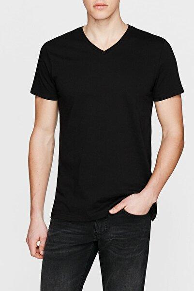 Erkek V Yaka Siyah  T-Shirt 065586-900