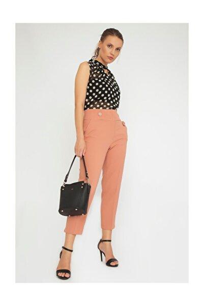 Chima Önü İki Düğmeli Pantolon