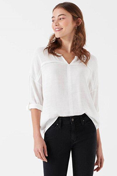 Kadın Beyaz Bluz 121357-22937