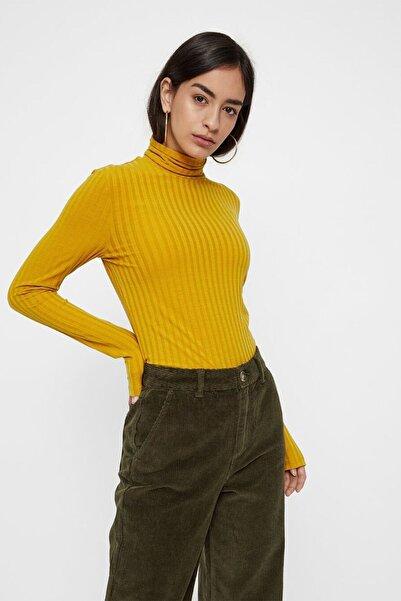 PIECES Kadın Sarı Bluz 17098590
