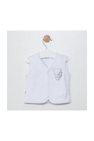 Funna Baby Unisex Bebek Beyaz  Yelek