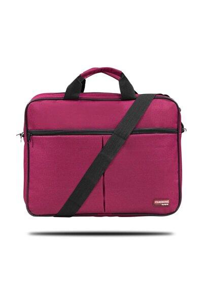 Classone BND305 El Çantası 15,6 inç Uyumlu Laptop Notebook El Çantası-Bordo,