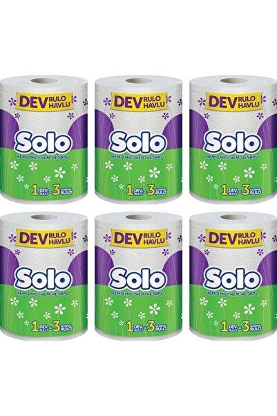 Solo Dev Rulo Kağıt Havlu 6 Paket