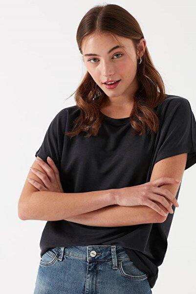 Kadın Siyah Modal T-Shirt 167245-900