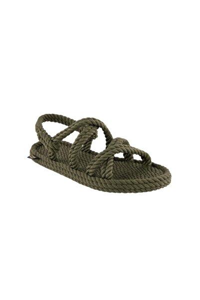 Nomadic Republic Kadın Haki Halat ve İp Sandalet