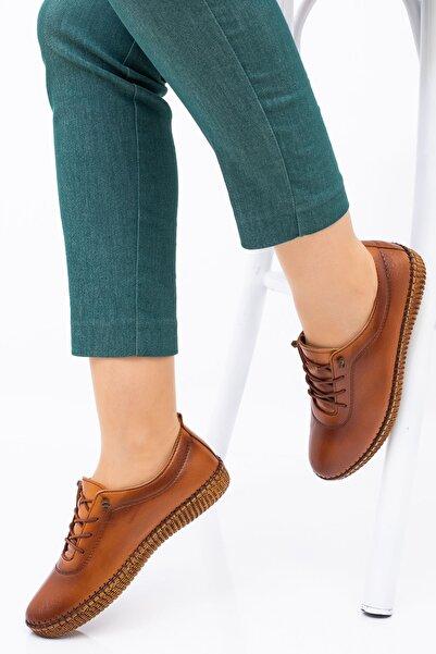 MelikaWalker Kadın Taba Ortopedik Ayakkabısı