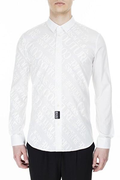 VERSACE JEANS COUTURE Erkek Beyaz Slim Fit Gömlek  B1gvb6s1 30205 003