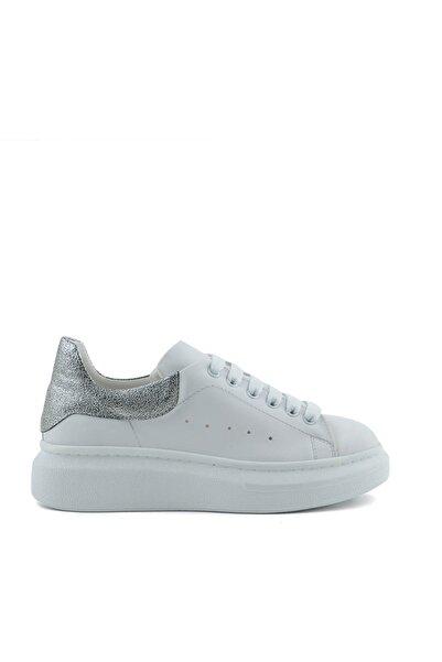 Tanca Beyaz-Gumus Kadın Sneaker  201Tck373 48
