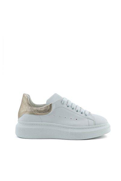 Tanca Beyaz-Altın Kadın Sneaker  201Tck373 48