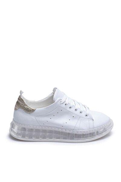 Tanca Beyaz Gold Kadın Sneaker  201Tck373 107