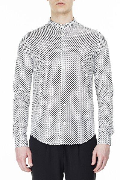 Emporio Armani Erkek Beyaz  Slim Fit Gömlek 3h1c78 1n88z F104