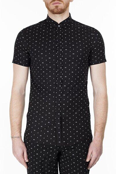 Armani Exchange Erkek Siyah Gömlek  3hzc04 Zneaz 7216