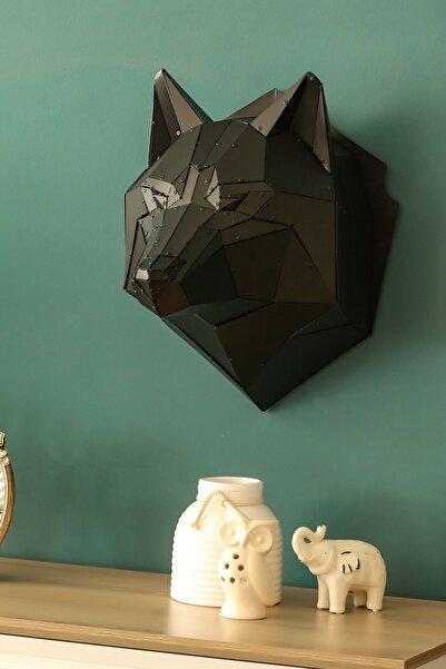 Craft Colic Wolf - 3 Boyutlu Metal Kurt Figürü Duvar Dekoru