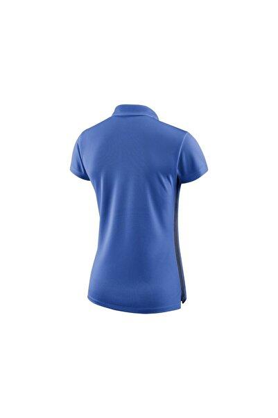 Kadın Mavi Polo Yaka Tişört 899986-463