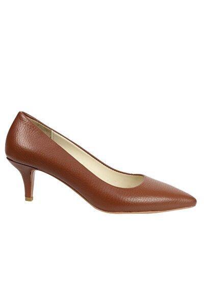 OZ DOROTHY Kadın Taba Hakiki Flotur Deri Topuklu Ayakkabı