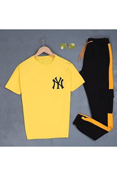 öz taha Ny Sarı T-shirt Eş Kargo Sarı Eşofman Takımı