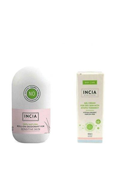 Incia Hassas Ciltler Için Doğal Roll-on Deodorant 50 Ml + Kuru Ciltler Için Jel Krem 50 Ml