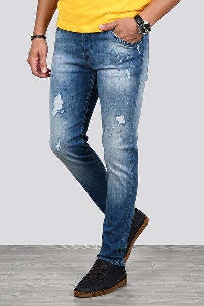 DeepSEA Erkek Lacivert Likralı Kot Pantolon 2002160
