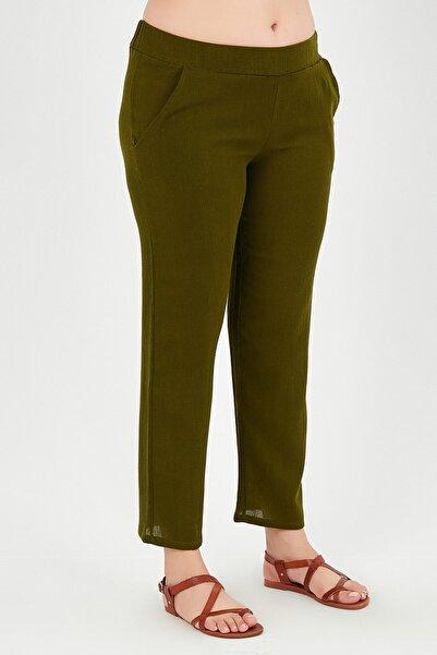 Moda Cazibe Büyük Beden Boru Paça Krinkıl Pantolon