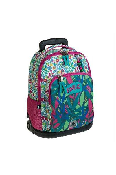 Busquets Yeşil Exotic Çekçekli Okul Çantası 18048092900