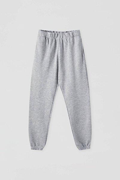 Pull & Bear Kadın Melanj Gri Elastik Paçalı Jogging Fit Pantolon 09672315
