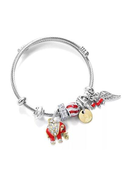 Pandora Fil Charmlı Kadın Şık Gümüş Bileklik
