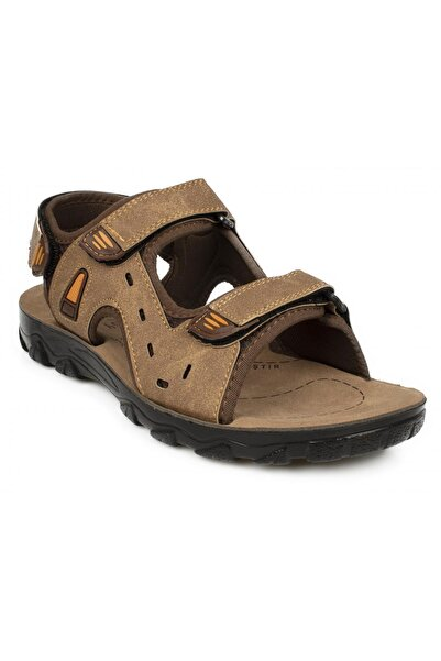 Twigy Ss0410 M Tw Pars Çift Bant Kahverengi Erkek Sandalet