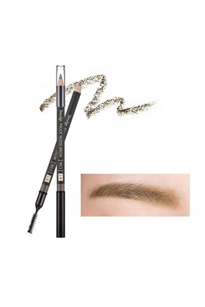 Missha Kalıcı Doğal Kaş Kalemi Smudge Proof Wood Brow (Light Brown) 8806185772624