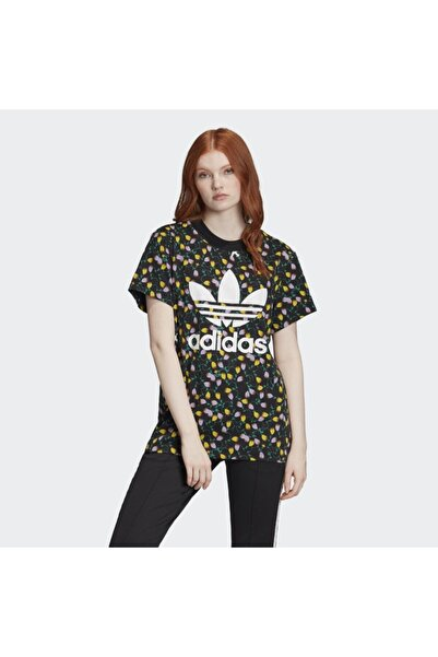 adidas Kadın Siyah Aop Kadın Tişört