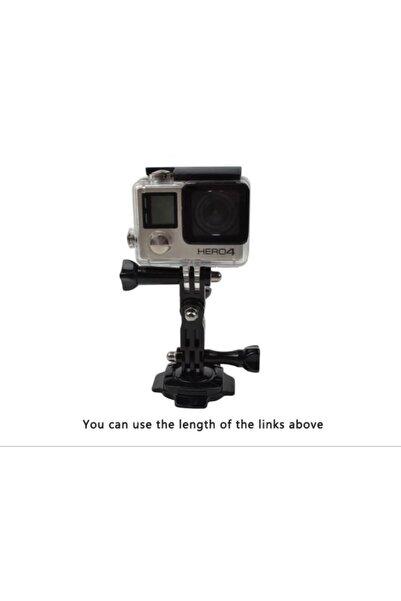 Usams Aksiyon Kamera Kask Için 360° Döner Kilit 3m Yapışkan Sticker Kavisli Kask Yüzeyine Uygun