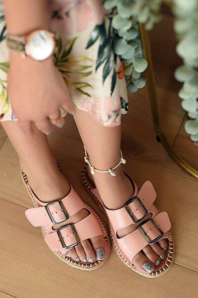 Pembe Potin Kadın Pembe Pudra Potin  Sandalet