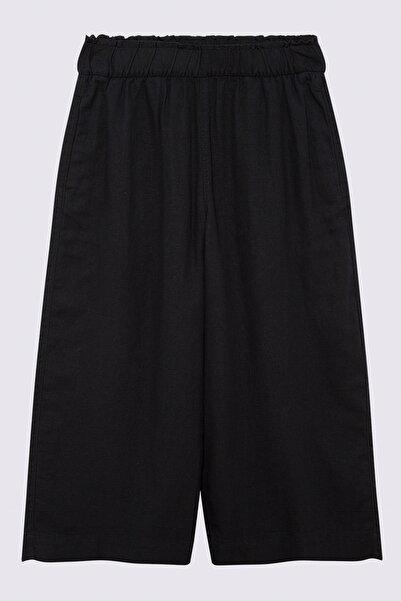 Marks & Spencer Kadın Siyah Wide Leg Crop Pantolon T57007128X