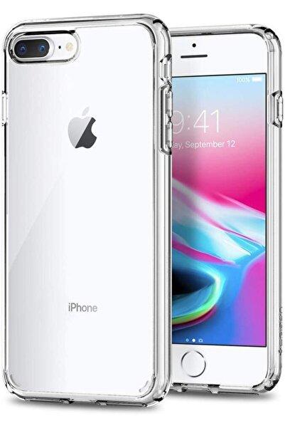 Iphone 8 Plus Kılıf Şeffaf Hibrit Silikon Esnek Tam Koruma
