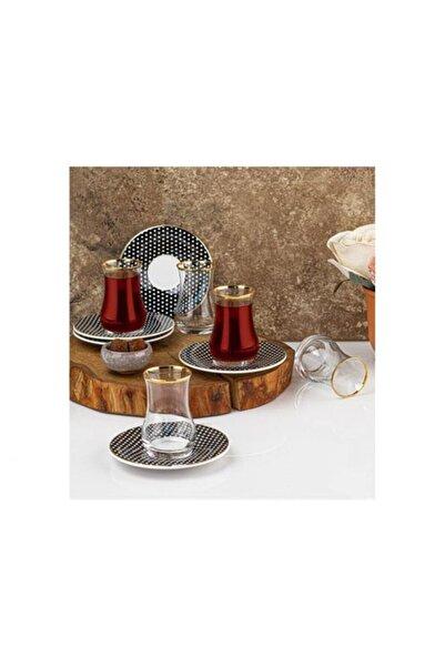 Taç Lilya 6 Kişilik Çay Seti 6027