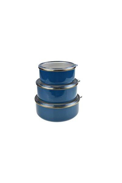 Taşev Bambum Melse - 3 'lü Saklama Kabi Mavi (14-16-18 Cm.)