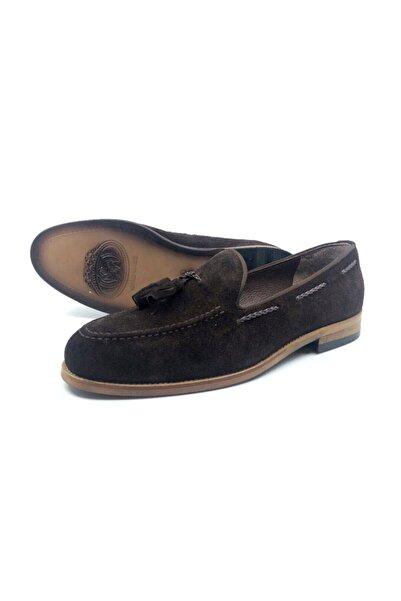 TETRİ Erkek Kahverengi Hakiki Süet Klasik Ayakkabı