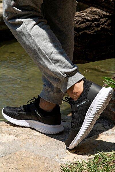 Otopedik Sneaker Erkek Spor Ayakkabı Plr104 Siyah Beyaz