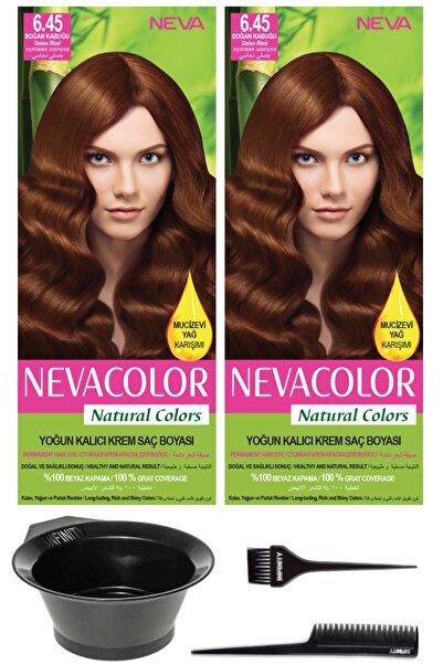 Neva Color Soğan Kabuğu - Kalıcı Krem Saç Boyası Ve Saç Boyama Seti 2'li Natural Colors 6.45