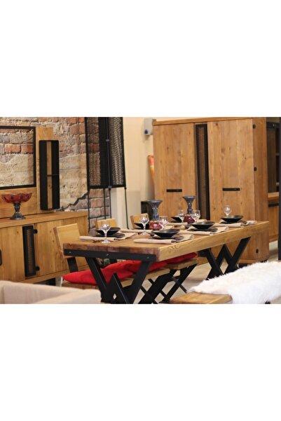NT Concept Ntconcept Masif Ağaç Mutfak Masası(85cm-210cm Masa)