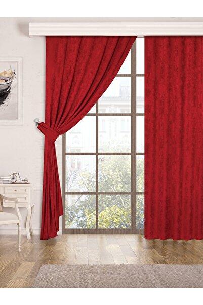 Belnido Home Kırmızı Hazır New Soft Fon Perde 170x270 Tek Kanat